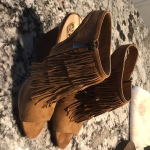 Vince Camuto fringe bootie - size 8 worn twice